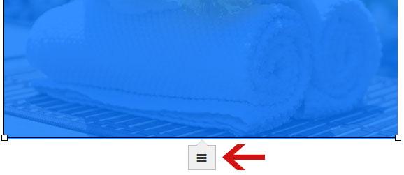 Clicar em opções da imagem